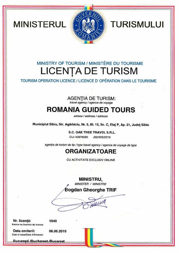 Tourism Operation License
