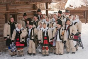 Christmas carolers in Maramures